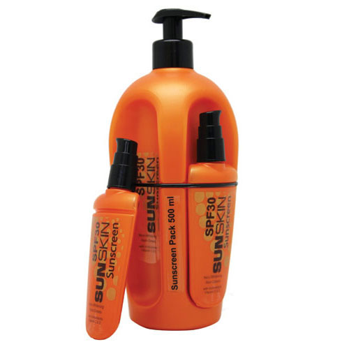 Sunskin Sunscreen SPF30 500ml Pack (Orange)