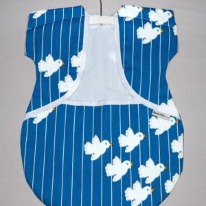 Peg Bag Blue with Doves 1