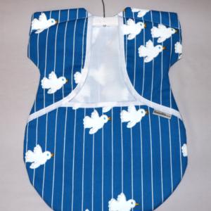 Peg Bag Blue with Doves 2
