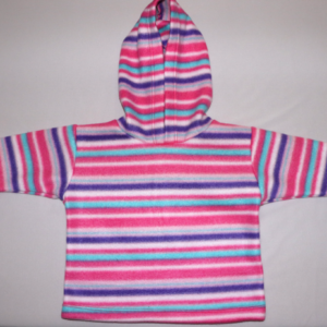 Fleece Top Pink Stripes – Age 6-12 months