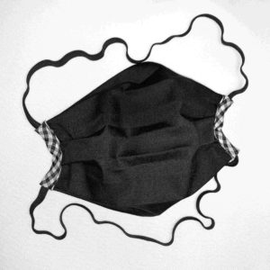 Cloth Face Mask Black with check